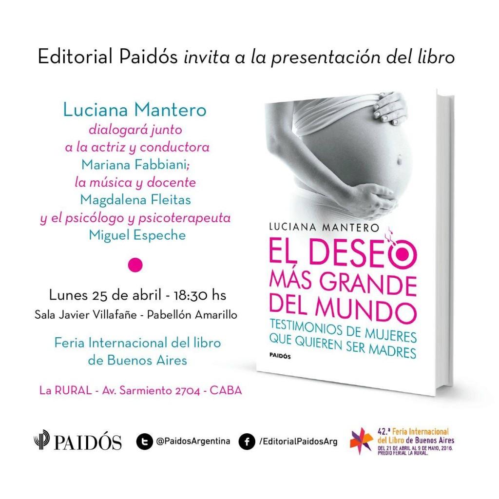 Presentación de Libro Luciana Mantero