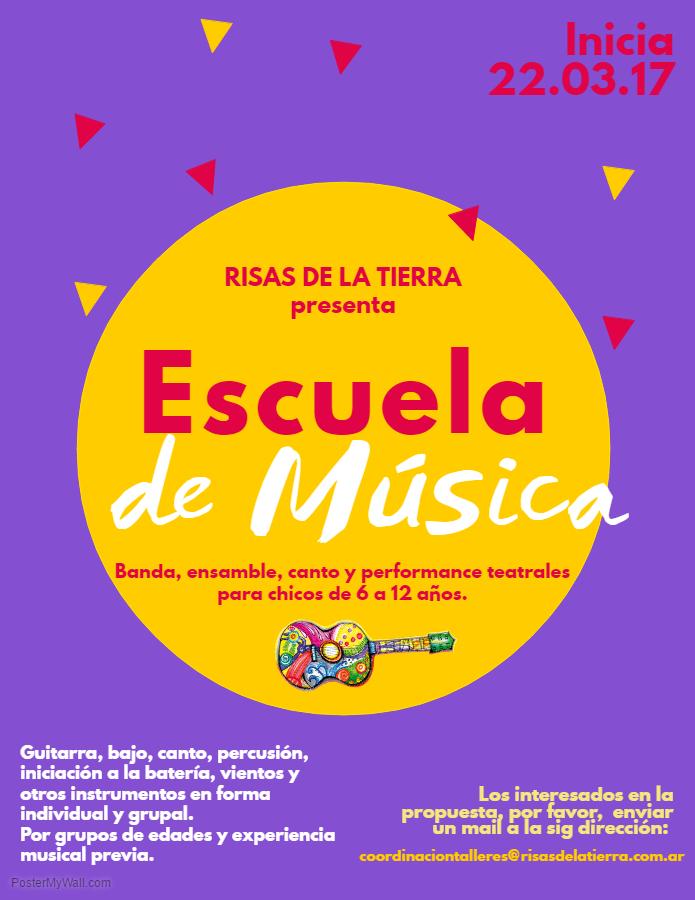 Flyer Escuela de Música 2017